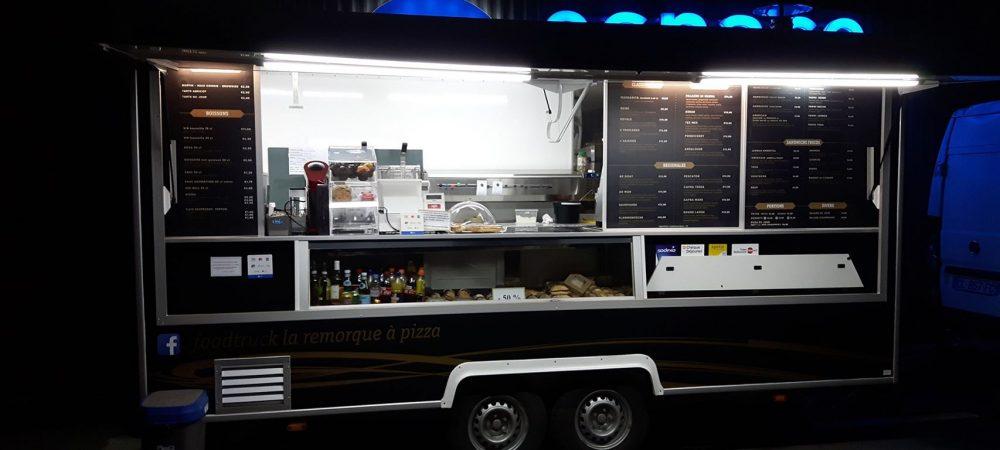 foodtruck pizzas, hamburgers