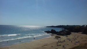camping les grands sables, Le Pouldu plage du Kérou