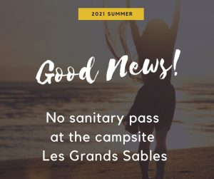 No sanitary pass at the campsite